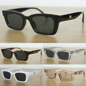 Chunky Rectangle Sunglasses Women's Men's UV400 Fashion Eyewear
