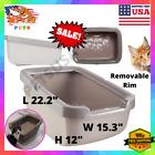 Extra Large Jumbo Cat Litter Box Open Top Removable Lid Caja De Arena Para Gato