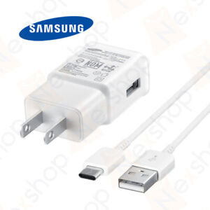 Original Samsung Galaxy S10 S10e Plus Fast Charge Wall Adapter & 1M Type C Cable