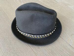 ZADIG & VOLTAIRE Chapeau Noir av Détails Or & Argt T/2 TBE Coll H19/20 Px 175€