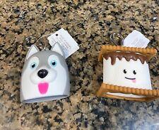 New Bath & Body Husky Dog & S'mores Holder/Clip/ Keychain HUSKY DOG