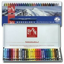 Caran d'Ache Classic Neocolor 2 Water Soluble Pastels 30 Colors Artist Crayons