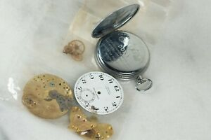 DOXA Fab Suisse Medaille D'or Milan Pocket Watch 1906 Etched Case Back DOXA