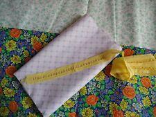 coupons tissu petites fleurs + galon jaune