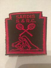 "RARE VINTAGE BSA  Patch Sardis S.& R.C. Swim and Racket Club 3""x3"""