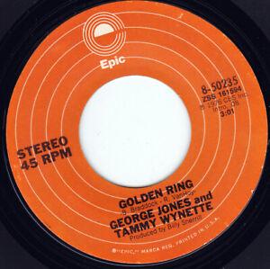 "GEORGES JONES & TAMMY WYNETTE -  Golden Ring 7"" 45"