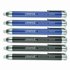 Universal Pen Style Retractable Eraser Blueblack 6pack Unv55106