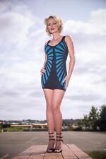 Marciano Black/Blue Mini Sleeveless Dress