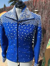 Royal Blue Showmanship Outfit Jacket & Pants With Pearls & Rhinestones