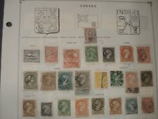 Unpicked Canada Stamp Collection on Scott International album pages 1859 -