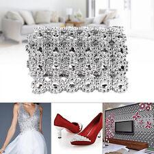 1 Yard Wedding Flower Diamond Mesh Wrap Roll Sparkle Rhinestone Crystal Ribbon J