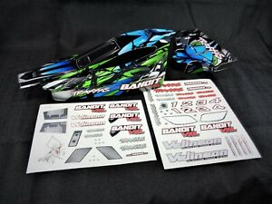 NEW Traxxas Bandit VXL Blue Black Green Painted Body Shell with Wing XL-5
