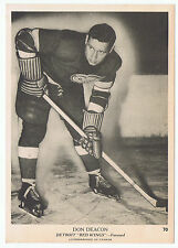 1939-40 O-Pee-Chee V301-1 Don Deacon # 70 Detroit Red Wings (5 x 7 card) NrMt