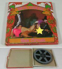 "Vintage Sex Porn Video Projector Film Tape Rheel - ""Sex Circus"" w/ Box"