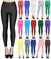 Damen Glanz Leggings Tanz Leggings Unifarben glänzende Leggins Shiny - GR009