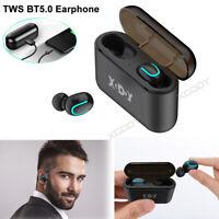 Bluetooth 5.0 Headset TWS Wireless Earphones In-Ear Earbuds HD Stereo Headphones