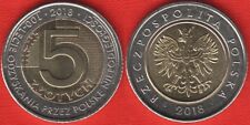"Poland 5 zlotych 2018 ""100th Ann. of Regaining Independence"" BiMetallic UNC"