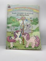 "Vintage Hasbro 1986 My Little Pony G1 ""Baby Ponies' Playtime"" Coloring Book Used"