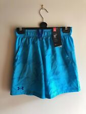 Under Armour UA Kid's Athletic Shorts - Blue - (YMD) 9 -10 Years - New