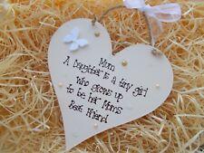 Mothers Day Mum Heart Hanger Gift Keepsake Any Colour