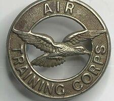 WW2 Air Training Corps cap Badge White Metal 39 mm