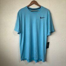 Nike Men's Light Blue Breathe Dri-Fit Short Sleeve Top Size Xl