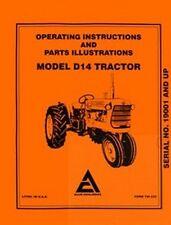 ALLIS CHALMERS D14 D-14 Operators Manual After Se 19001