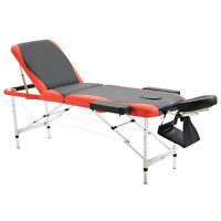"Aluminium 3 Section 84""L Portable Massage Table Facial SPA Bed Carry Case"