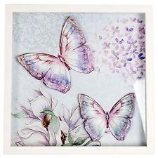 3D Mariposa Colgante de Arte Caja de placa de Pared Marco Foto 30cm X 30cm