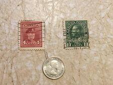 1964 CANADA Queen ELIZABETH II 10 C SILVER Coin BLUENOSE SHIP STAMP