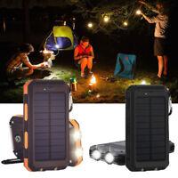 10000mAh Dual USB Solar Energy Power Bank Battery DIY Box  Case With LED Light