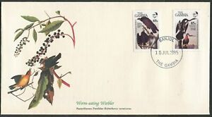 GAMBIA - 1985 'WORM-EATING WARBLER' John Audubon First Day Cover [C3275]