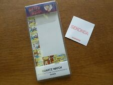 VINTAGE COLLECTABLE 1987 SEKONDA BETTY BOOP WATCH BLISTER PACK & GUARANTEE ONLY!