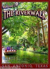 The Riverwalk San Antonio Texas United States Travel Art Advertisement Poster