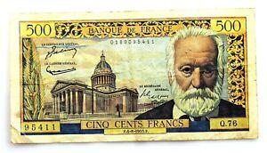 Francia-500 Francos 1955. Victor Hugo. Circulado. Escaso