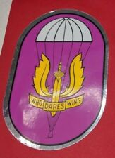 Belgium Air Force SAS Para Commando Parachutiste Who Dares Wins Badge Sticker