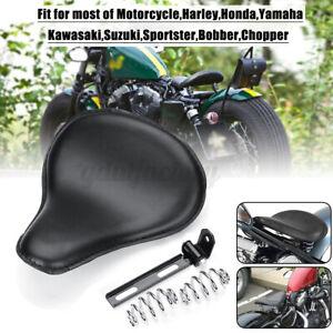 Motorcycle Solo Driver Seat Spring W/ Bracket For Kawasaki Chopper Bobber