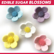Edible Sugar Flowers 50 Blossoms Asstd Cake Cupcake Decoration Toppers Flowers