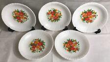Lot1 De 5 Assiettes Creuses Arcopal Vintage France D 21 Cm Décor Floral