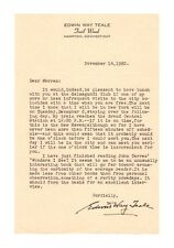 Edwin Way Teale Naturalist & Artist Typed Letter Signed - Authentic!