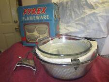 VINTAGE PYREX FLAMEWARE POT PAN MATCHED SET # 265 NEW IN BOX C67