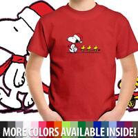 Christmas Snoopy Woodstocks Winter Shirts Toddler Kid Boy Girl Tee Youth T-Shirt