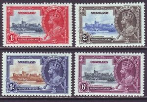 Swaziland 1935 SC 20-23 MH Set Silver Jubillee