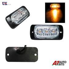 3 Led Mount Amber Strobe Flashing Light Recovery Lightbar Beacon Truck Car