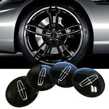 "4x Black Aluminium 56mm 2.2"" Car Wheel Center Hub Cap Sticker Emblem for Lincoln"