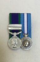 Court Mounted GSM Northern Ireland & Dhofar, UN Cyprus, Miniature Medals, Mess