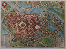 POLEN BRESLAU WRATISLAVIA WROCLAW ANSICHT BRAUN & HOGENBERG ALTKOLORIERT 1587