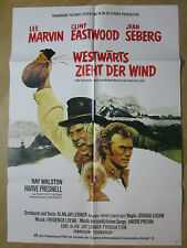 Filmposter * Kinoplakat * A1 * Westwärts zieht der Wind * WA 70er * Eastwood