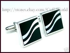 Onyx & Mother of Pearl Cuff Links cufflinks #C-85