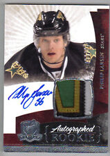 10-11 Philip Larsen The Cup Auto Rookie Card RC #128 Great 4 Color Patch 088/249
